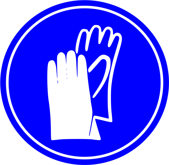 Protective gloves clipart.