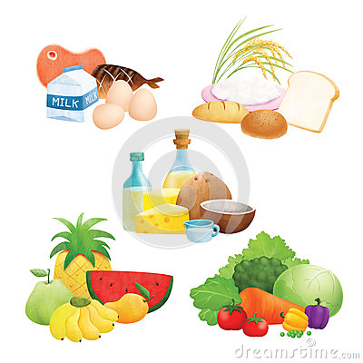 Proteins Clip Art Healthy Eating.