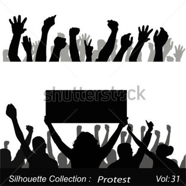 Rally Protest Clipart.