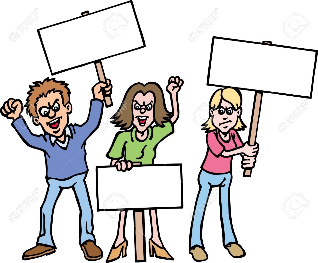 Protest Clipart #10.