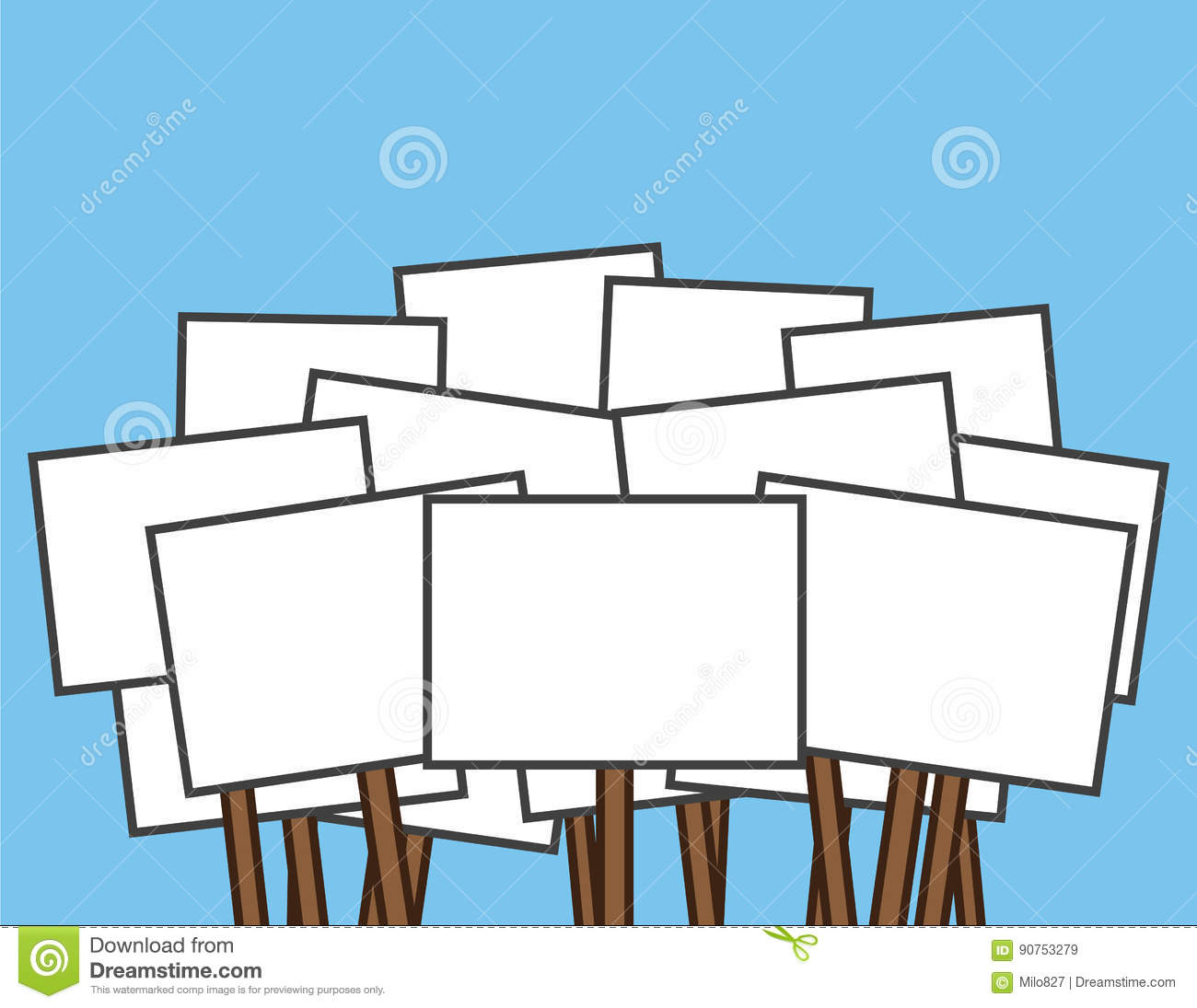 Protest sign clipart 3 » Clipart Station.