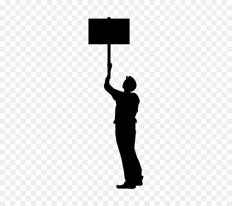 Protest Silhouette png download.