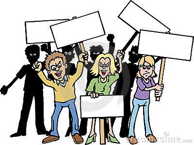 Protester Clipart.