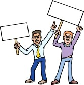 protester clipart 10169660 group of #protesters.