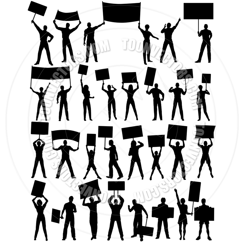 Protesters Clipart.
