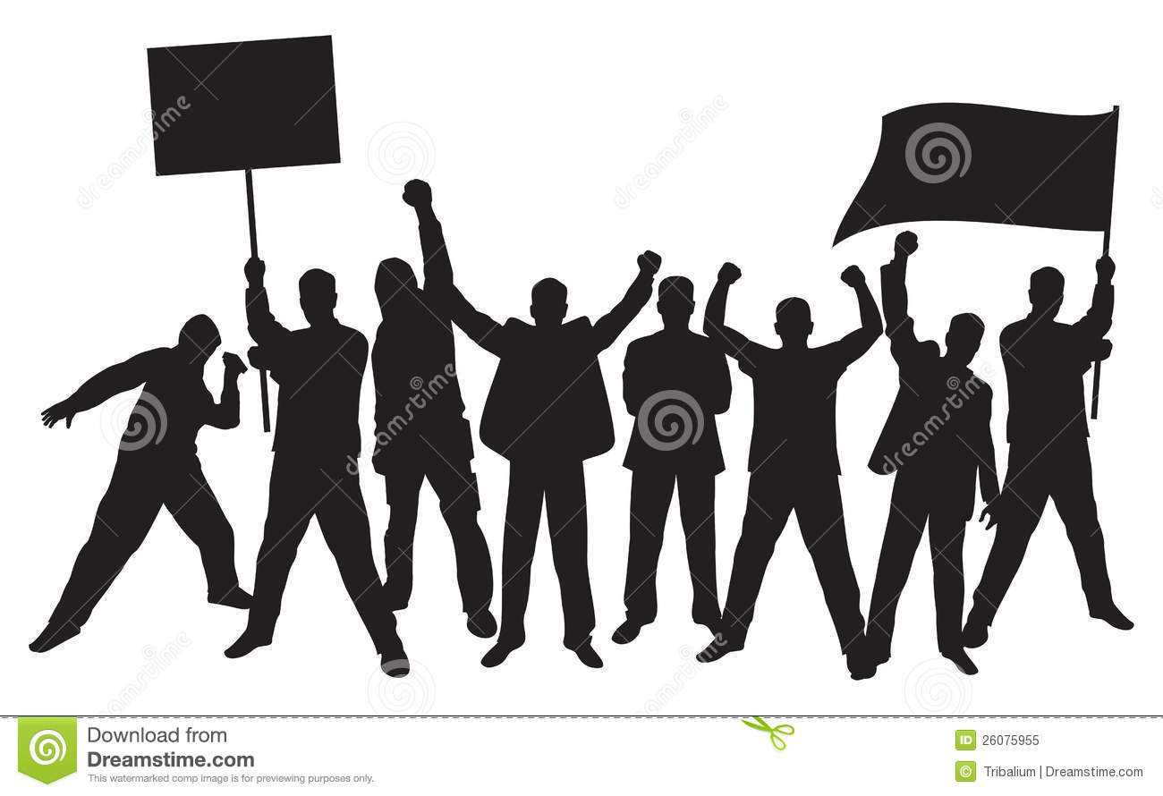 Protester Stock Illustrations.