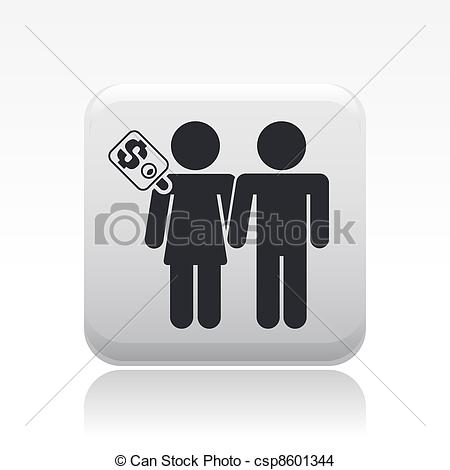 Vector Clipart of Vector illustration of single isolated.