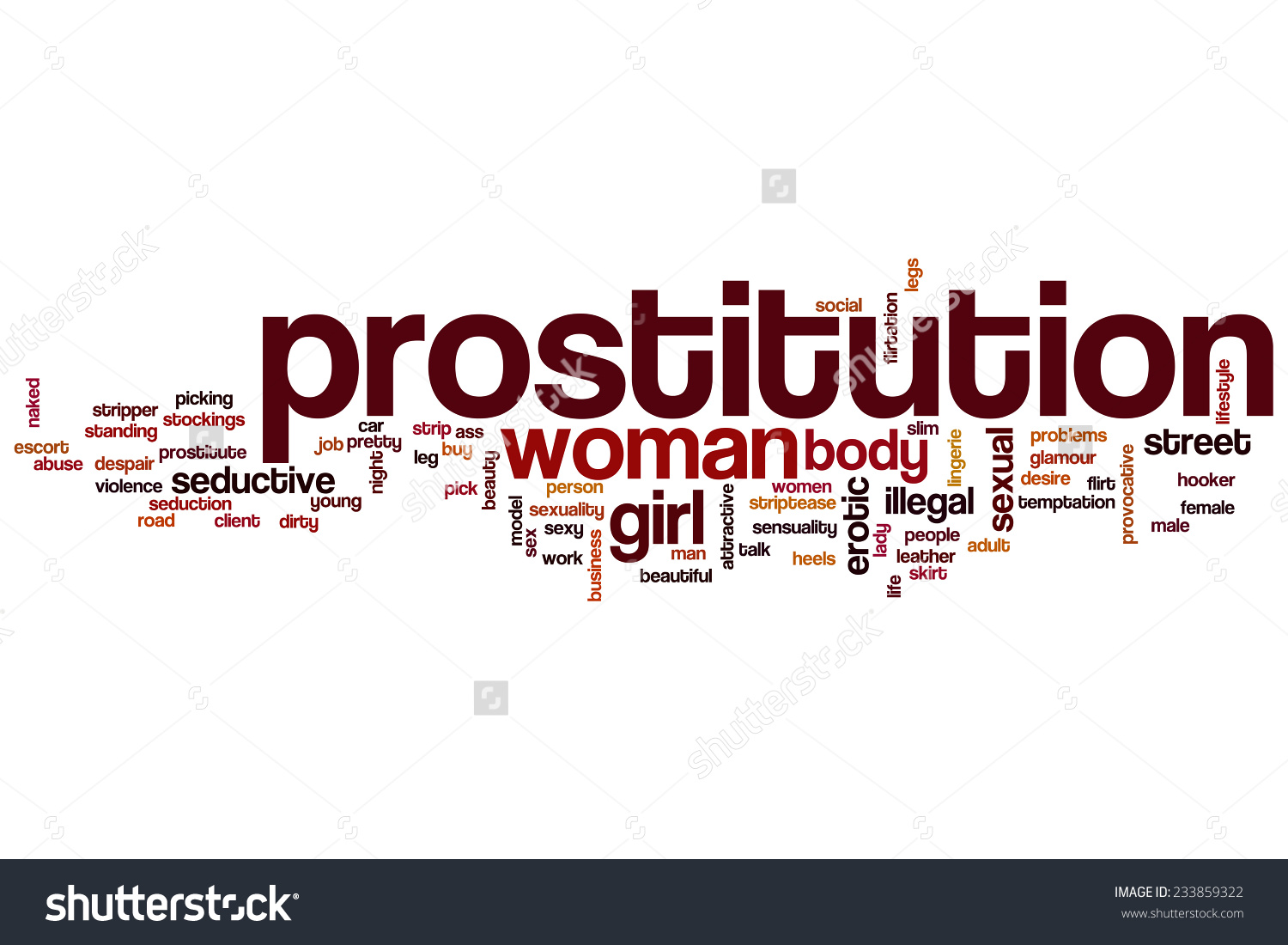 Prostitution Word Cloud Concept Stock Illustration 233859322.