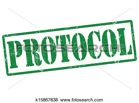 Clip Art of Protocol stamp k15867838.