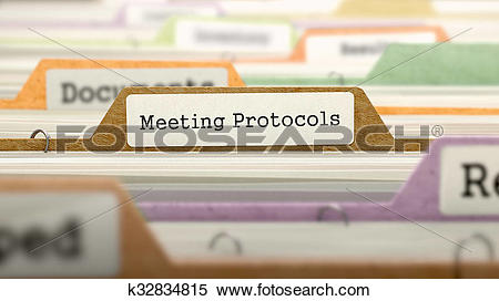 Stock Illustration of Meeting Protocols.