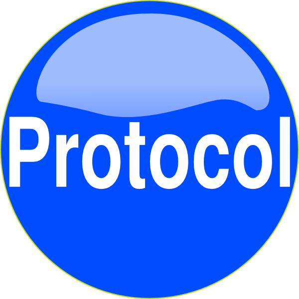 Blue Button Protocol Clip Art at Clker.com.