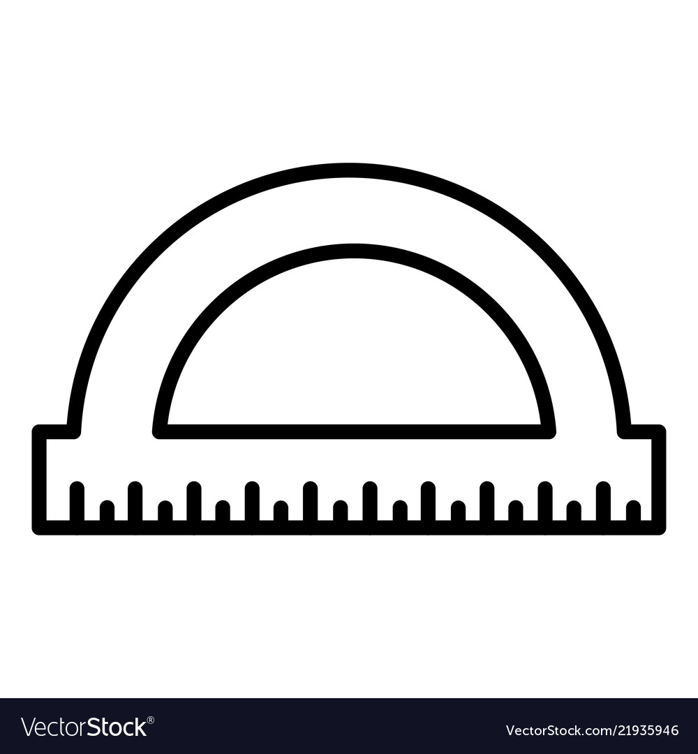 Protractor icon isolated on white background.