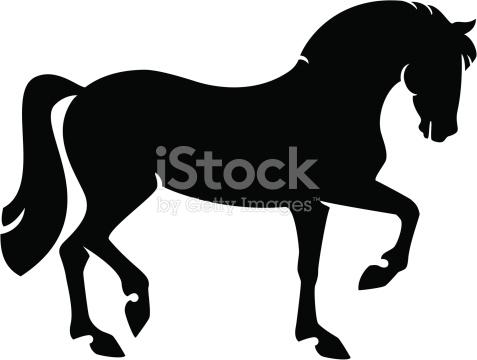 Proud Horse Silhouette stock vector art 165726802.