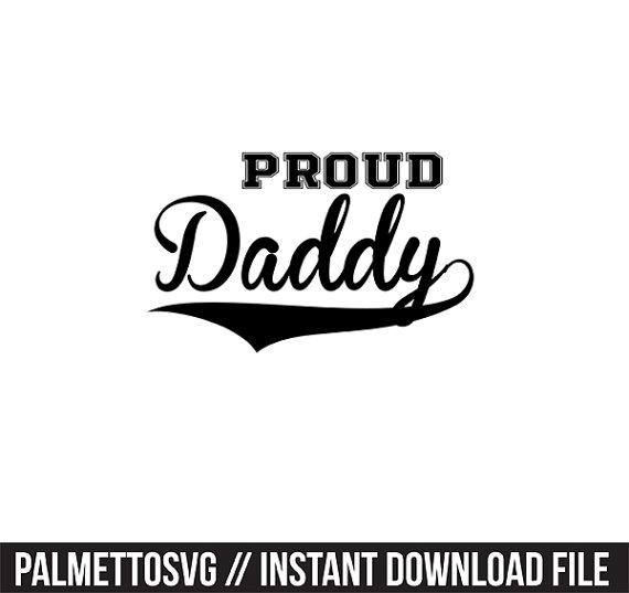 proud daddy baseball font svg, Cricut Cut Files, Silhouette Cut.