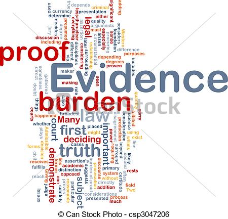 Stock Illustration of Evidence proof background concept.
