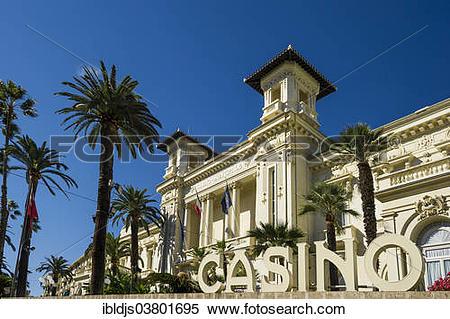 """Stock Image of """"Casino, Sanremo, Imperia Province, Riviera dei."""