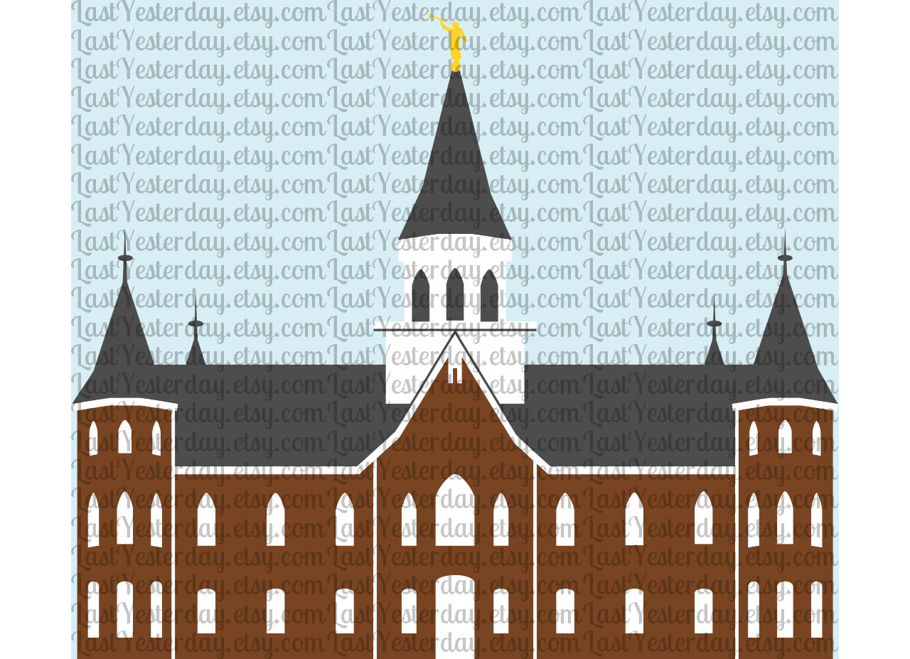 Provo city center temple clipart png.