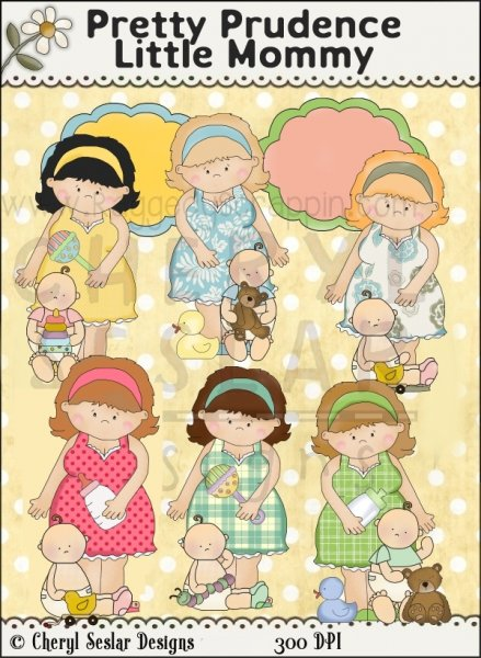 Pretty Prudence Little Mommy Clip Art Download [RS98049].