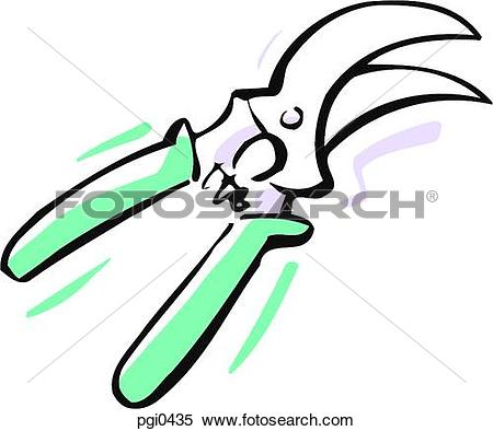 Stock Illustration of A cartoon illustration of a pruner pgi0435.
