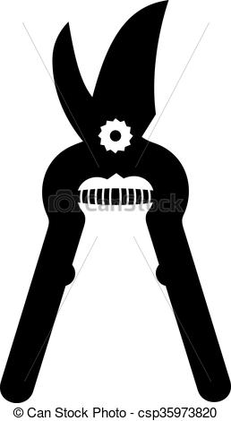 Vector Illustration of Garden pruner, shade picture csp35973820.