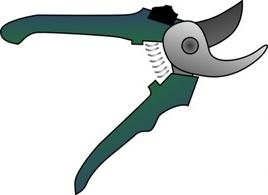 Pruning shears clipart.
