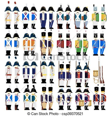 Vector Illustration of Military uniforms of Prussia.