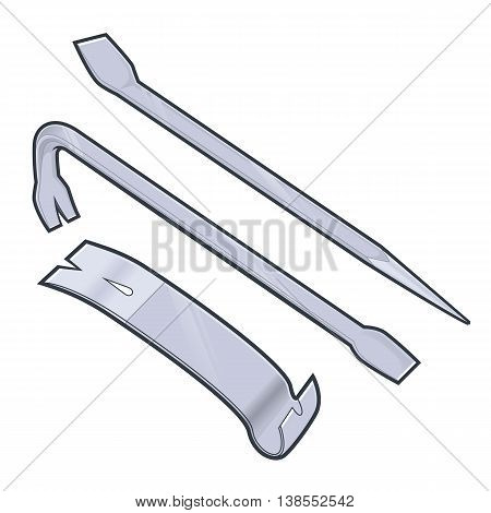 Vector cartoon clipart picture of a pry bar Stock Vector & Stock.
