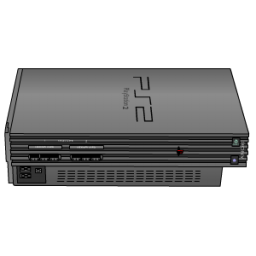 Sony PlayStation 2 Silver Icon, PNG ClipArt Image.