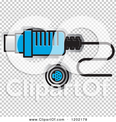Clipart of a Computer Ps2 Socket Icon.