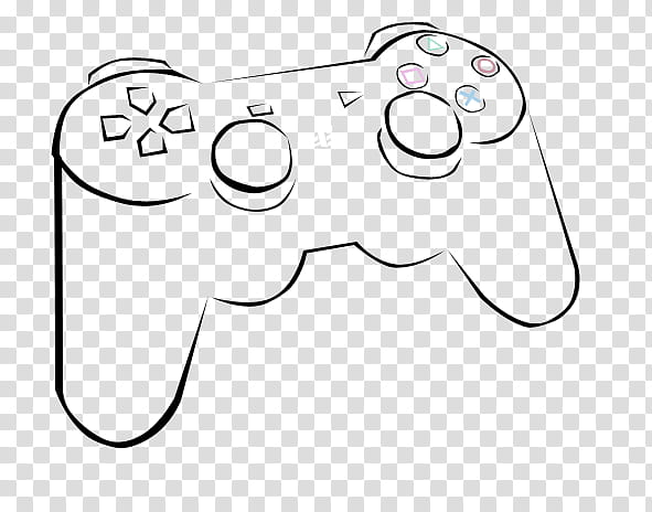 SixAxis, PS controller, game controller illustration.