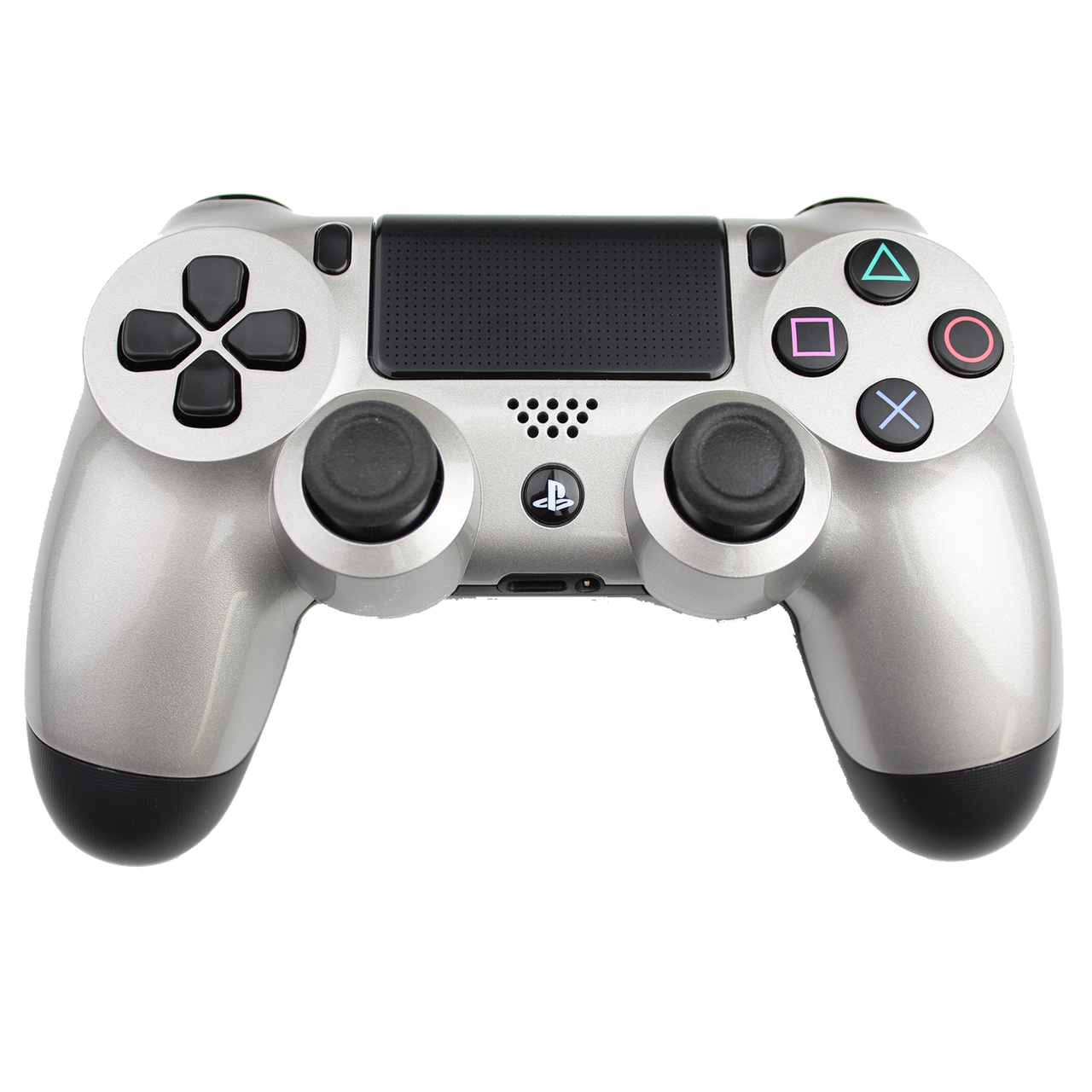Playstation, PS4 Controller Silver png #42120.
