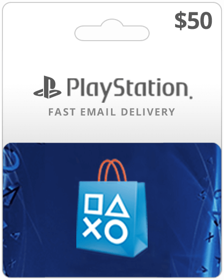 $50 PlayStation Gift Card.