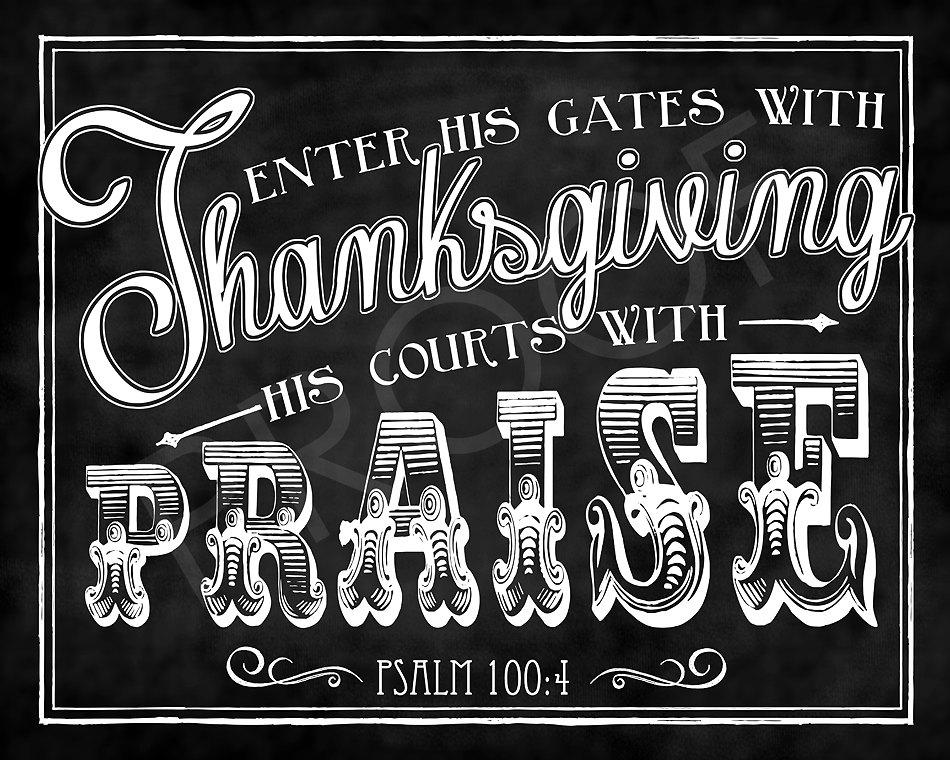 Psalm 100 4.