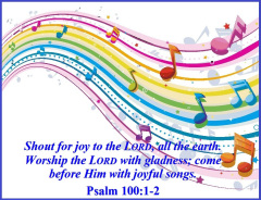 SHOUT JOYFULLY TO THE LORD.
