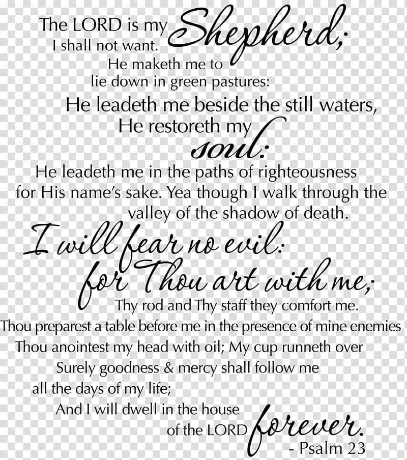 Psalms Bible Psalm 121 Psalm 23, funeral transparent.