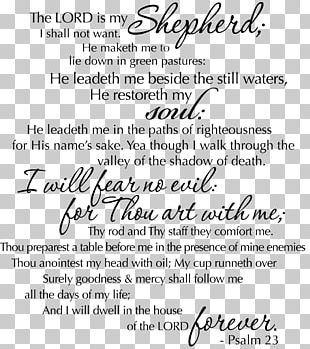 Psalm 23 PNG Images, Psalm 23 Clipart Free Download.
