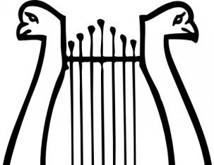 Lyre Musical Instrument clip art.
