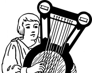 Psaltery Musical Instrument clip art.