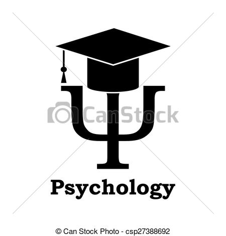 EPS Vectors of Psychology learning. Black Psi letter with.