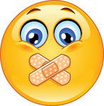 Vectors Illustration of Adhesive bandage emoticon.