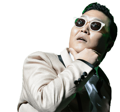 Psy Looking Up transparent PNG.