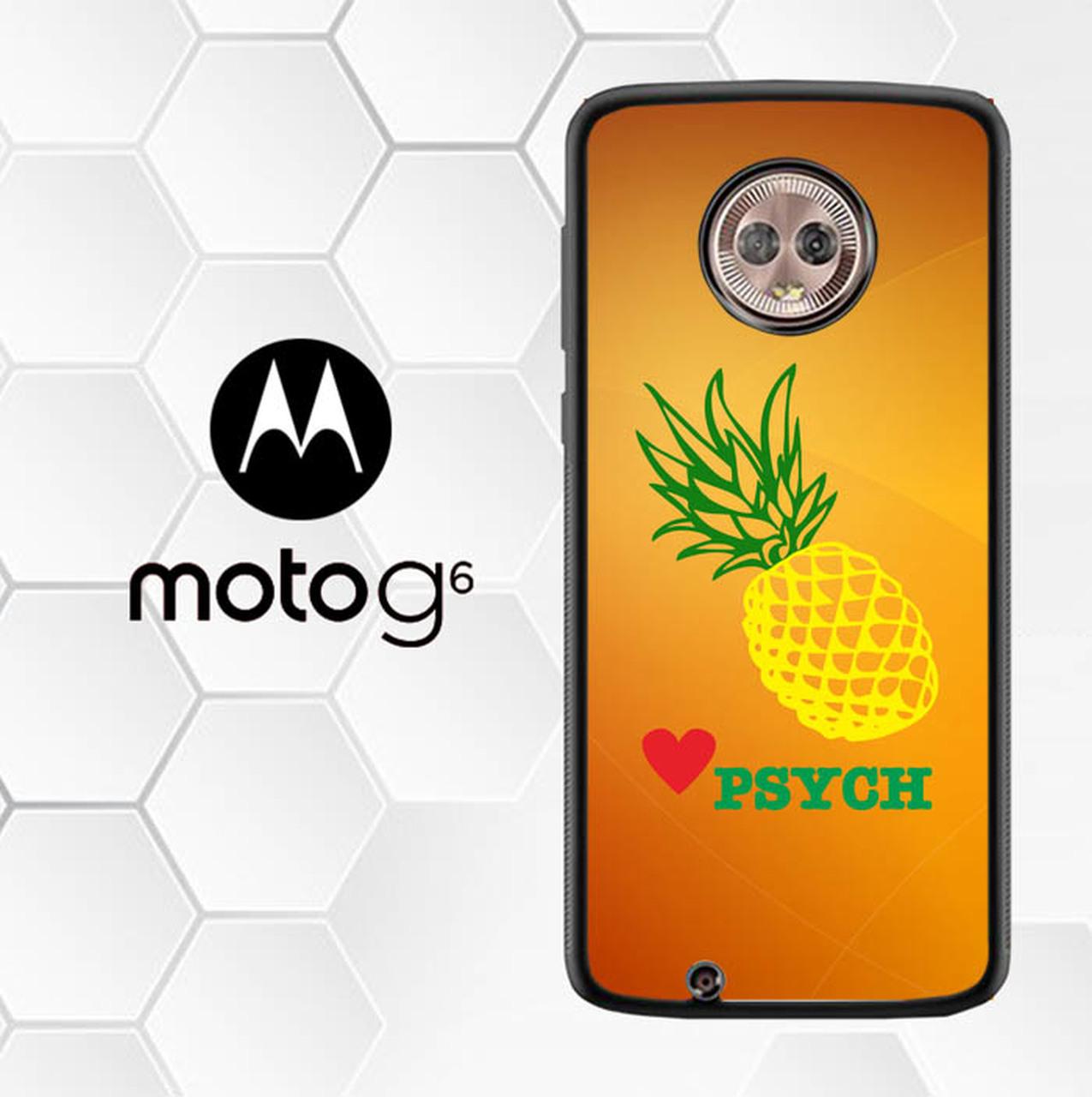 Psych Logo Brand O3073 Motorola Moto G6 Case.