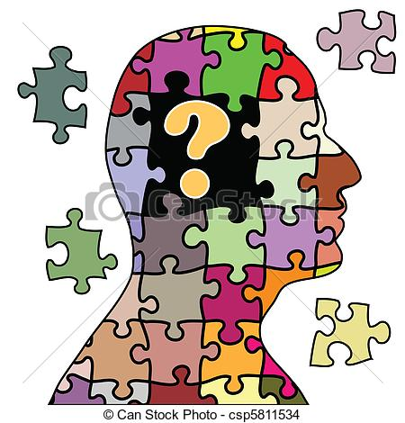 EPS Vector of Puzzle man.