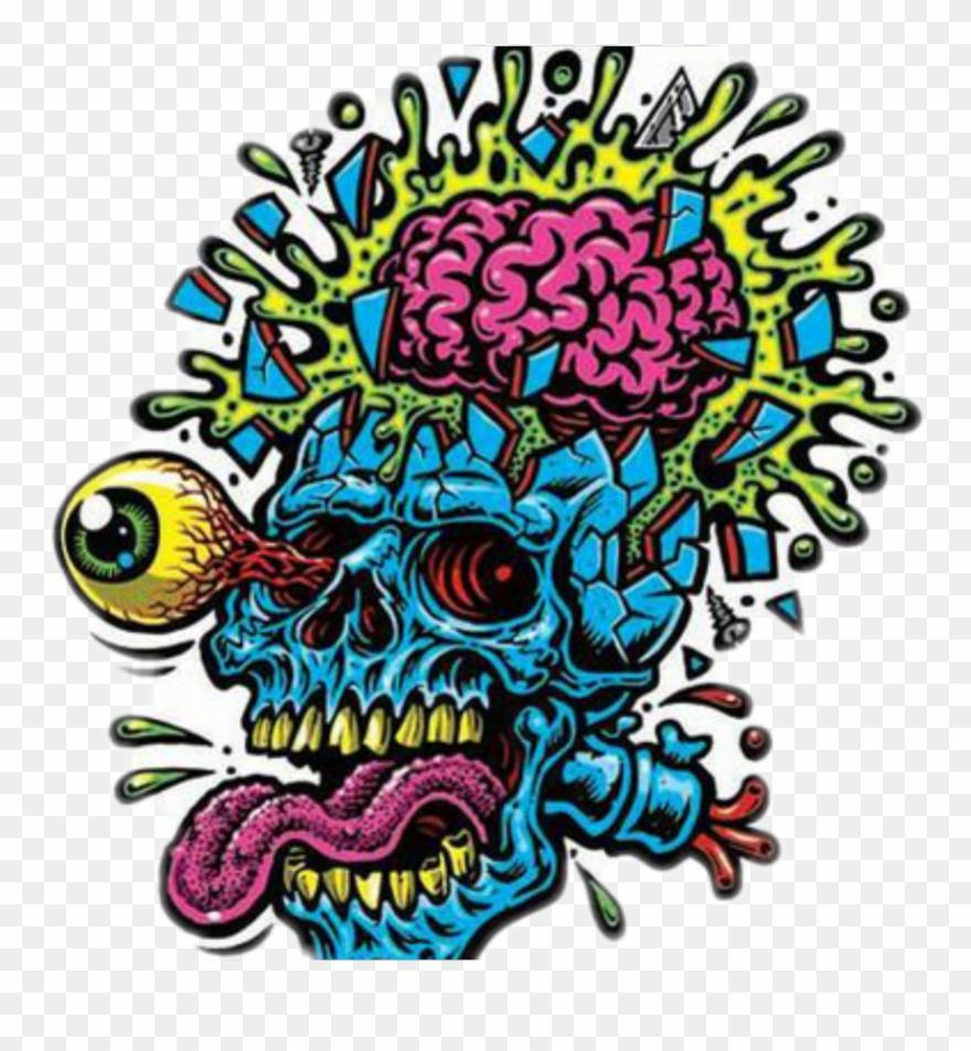 Skull Psychedelic Psychedelicart Natnat7w.
