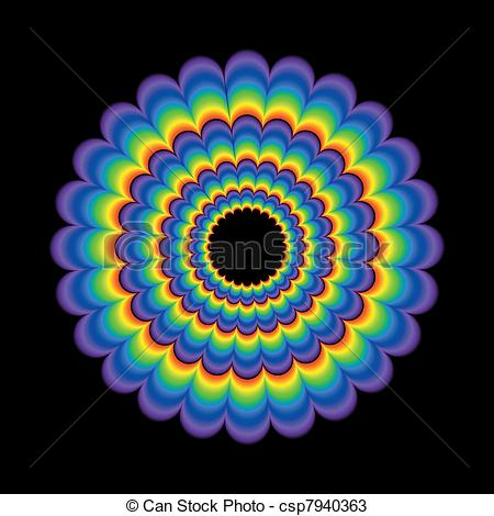 Clipart Vector of Circular Psychedelic Background.