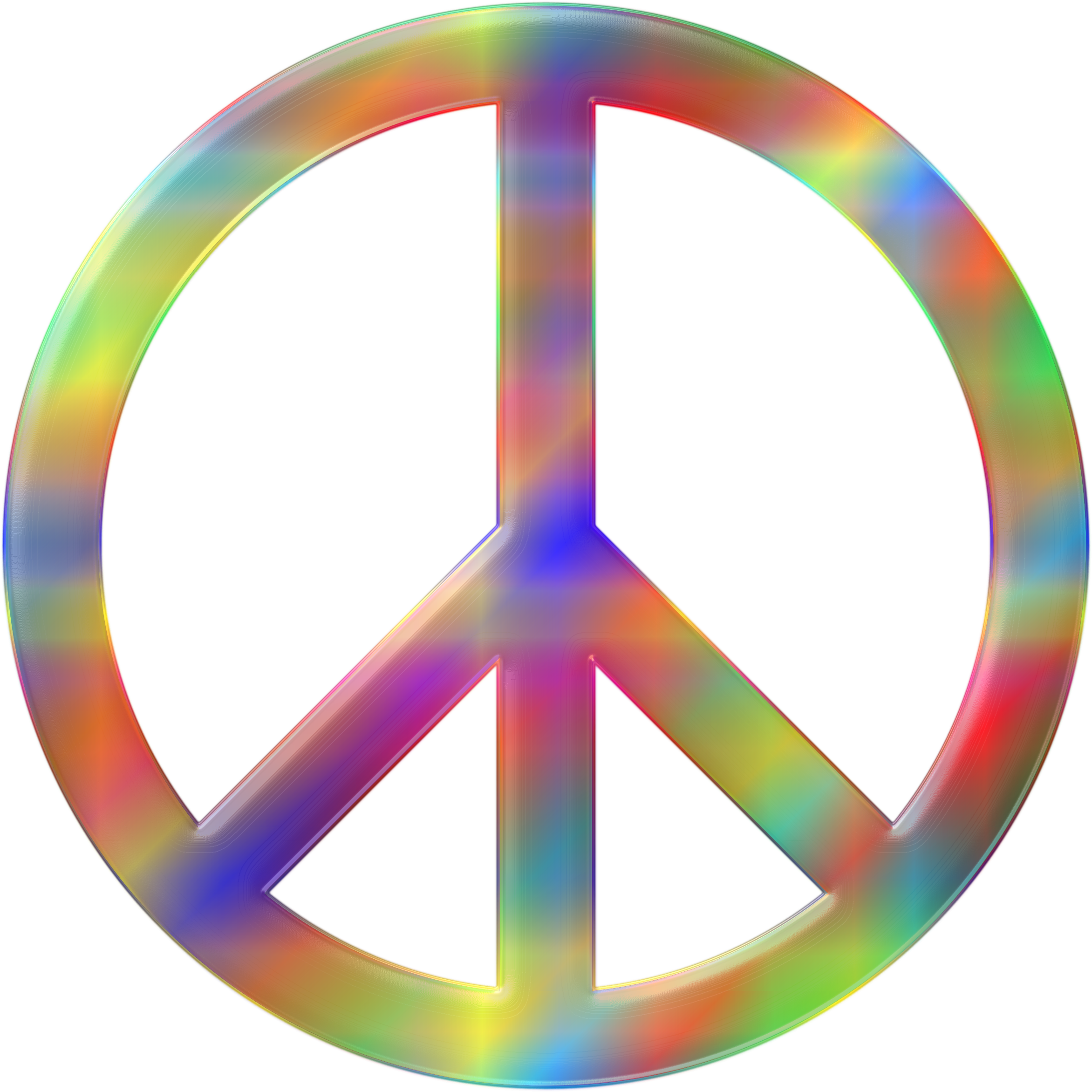Psychedelic peace clipart.