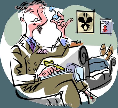 psychiatrist Royalty Free Vector Clip Art illustration.