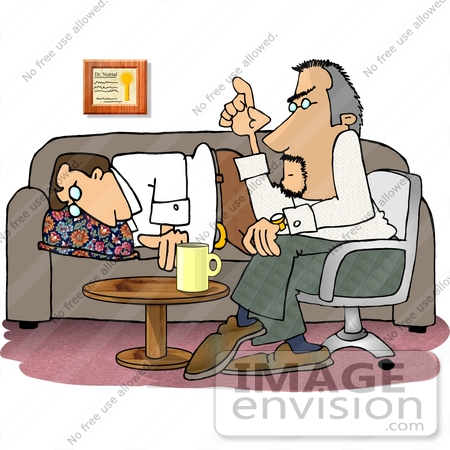 Man in a Psychiatrist Session Clipart.