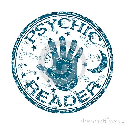 Psychic Reader Rubber Stamp Stock Images.