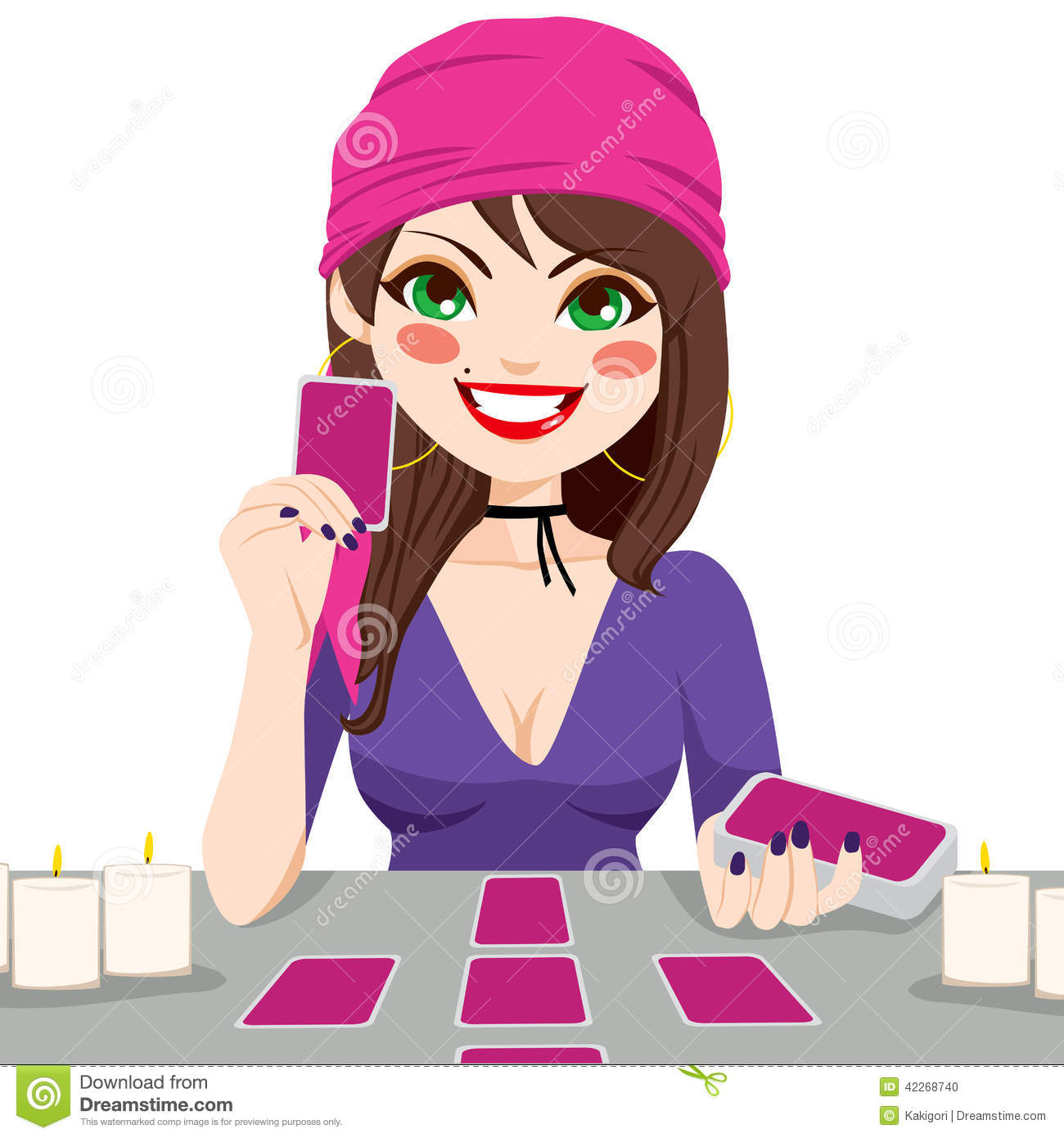 Psychic reading clipart.